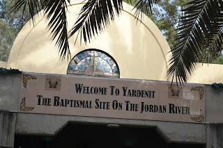 terra santa jordão - entrada de Yardenit