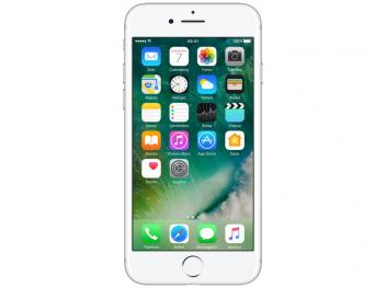 "iPhone 7 Apple 256GB Prateado 4G 4,7"" Retina - Câm. 12MP + Selfie 7MP iOS 10 Proc. Chip A10 Bivolt"