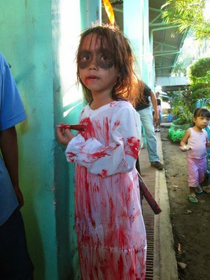 "<img src=""bloody.gif"" alt="" bloody white lady halloween outfit dsigns for children ""/>"