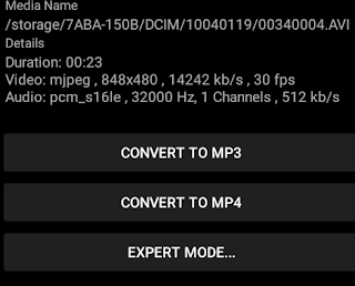 Convert avi ke mp4 di android