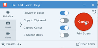 Snagit Screen capture Software Presets