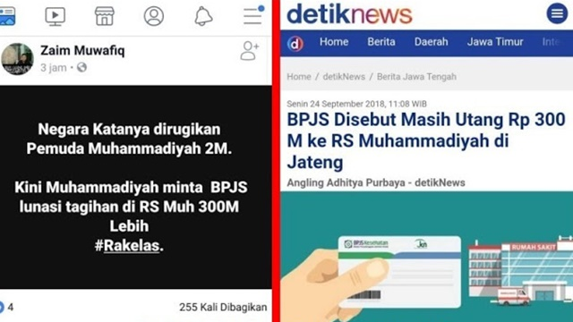 Pemuda Muhammadiyah Kembalikan Rp2 M, Warganet Sindir Tunggakan BPJS Rp300 M ke RS Muhammadiyah