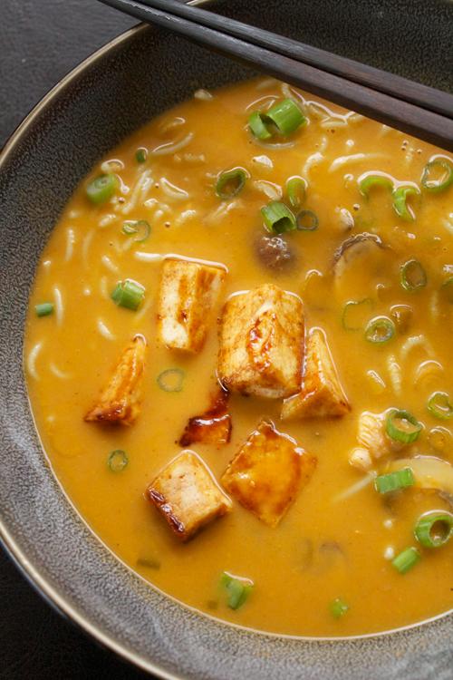 Coconut Curry Ramen Noodle Soup    A Less Processed Life