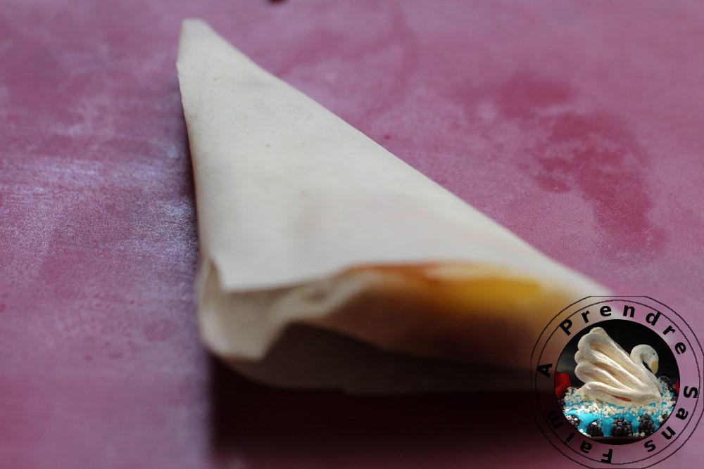 Triangles aux pommes et amandes (pas à pas en photos)
