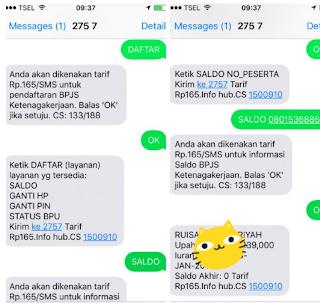 Cara Cek Saldo BPJS Ketenagakerjaan via sms