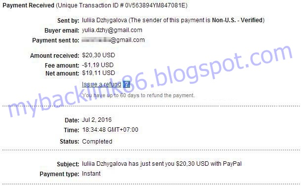 Proof of Payment of AdNOw