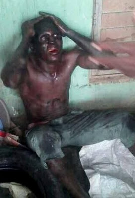 Photos: Ikorodu residents apprehend suspected Badoo member