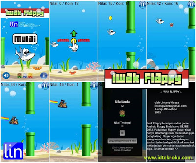 Iwak Flappy, Game Mirip Flappy Bird Karya Anak Bangsa