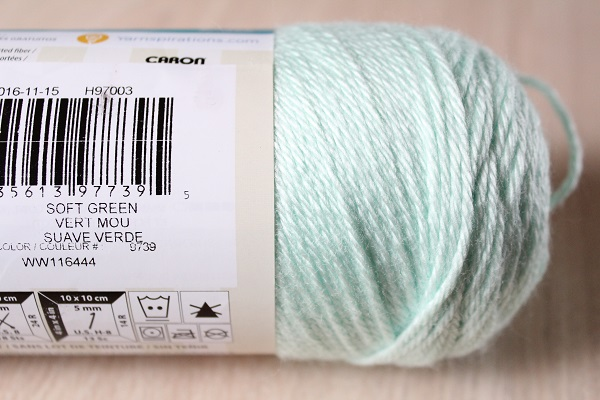 crafts, crochet, yarn, WIP, Simply Soft, Soft Green