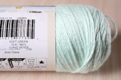 crafts, crochet, yarn, WIP, Simply Soft, Soft Green
