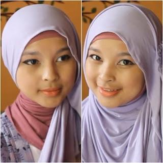 Tutorial Hijab Pashmina Bahan Kaos  Yang Simple Tapi Cantik