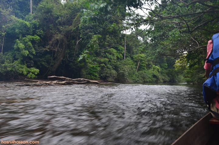 Gambar pemandangan Sungai Tahan