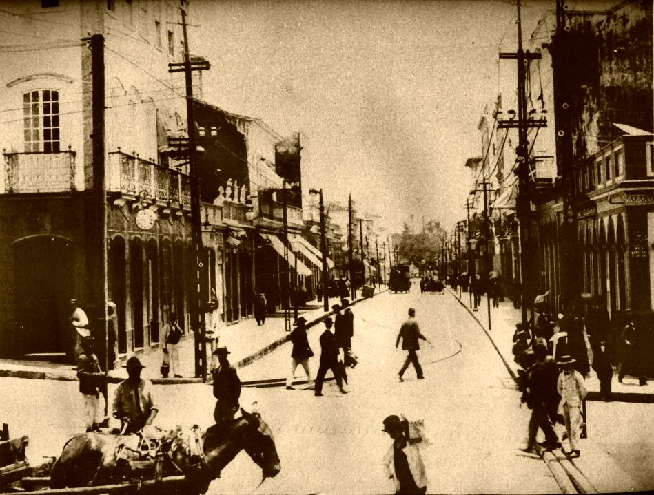 Porto Alegre: Esquina Otávio Rocha e Marechal Floriano, 1900