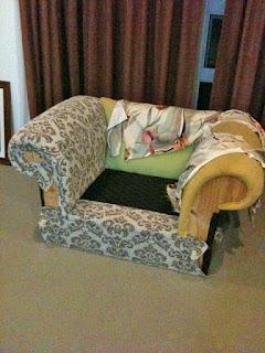 Fotel kárpit párna cseréje