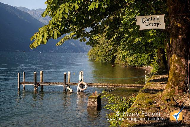 Un molo sul lago di Lugano