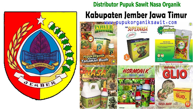 Distributor pupuk buah sawit Nasa Organik wilayah Kabupaten Jember Jawa Timur (JATIM).
