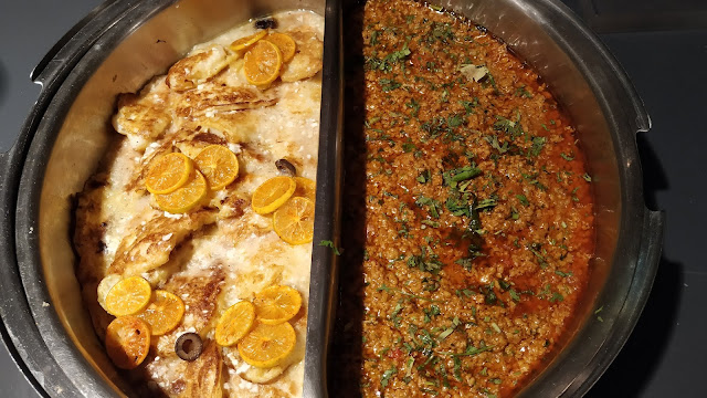 Fish lemon butter sauce and chicken Masala in buffet dinner ideas Mosiac restaurant Navi Mumbai