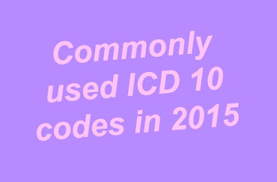 Commonly used ICD 9 to ICD 10 codes for Medical coders