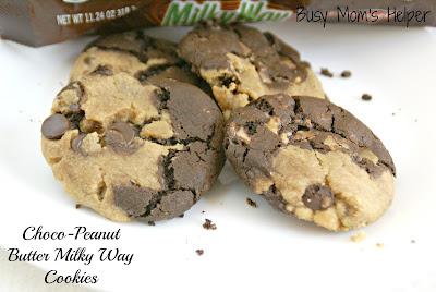 Chocolate Peanut Butter Milky Way Cookies