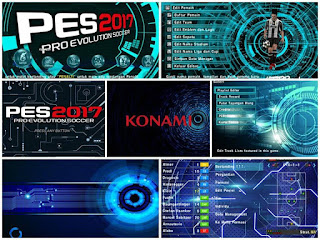 Textures Techno Blue Theme HD for PES PSP Android
