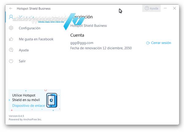 Hotspot Shield Business Versión 8.4.5 Full Español