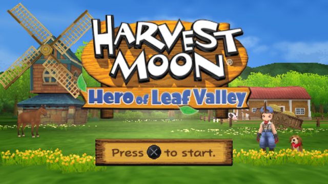 Rekomenasi Game PSP Seru: Harvset Moon Hero Of Leaf Valley