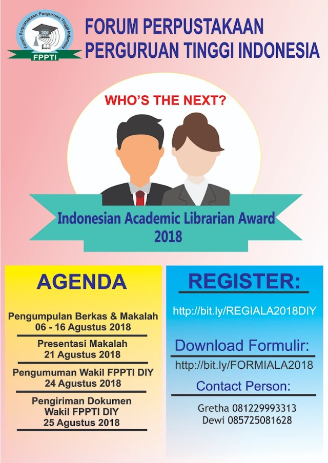 INDONESIAN ACADEMIC LIBRARIAN AWARD (IALA) 2018