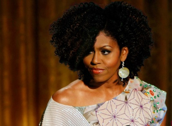 Michelle obama reveals her natural hair michelle obamas face photoshopped with nikki maes hair 2012 pmusecretfo Images