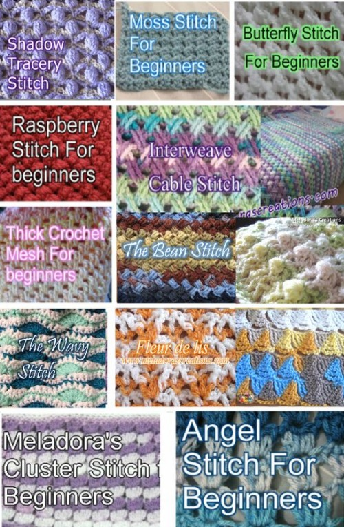 Crochet Stitches - Free Patterns & Tutorials