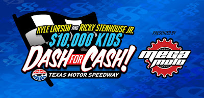 Larson, Stenhouse Jr. Doling Out $10,000 In 'Kids Dash For Cash' Event