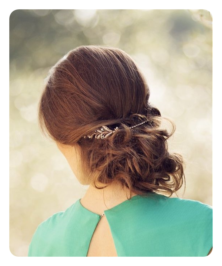 low updo messy bun 2017 2016 aw hairstyle bridal, prom