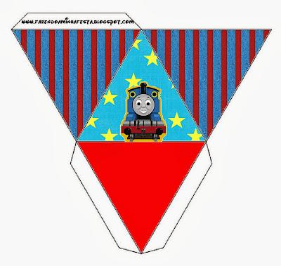 Thomas the Train Free Printable Pyramid Box.