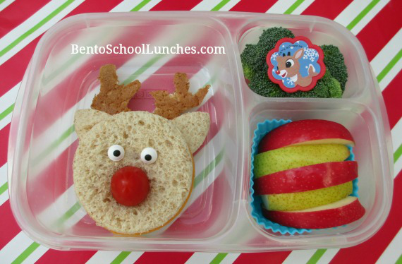Rudolph The Red Nose Reindeer, Christmas bento school lunch