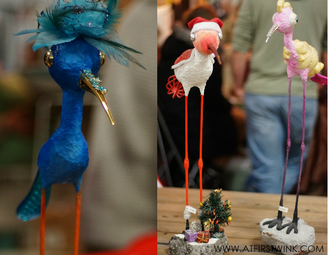 artistic birds sold at the Swan market Rotterdam