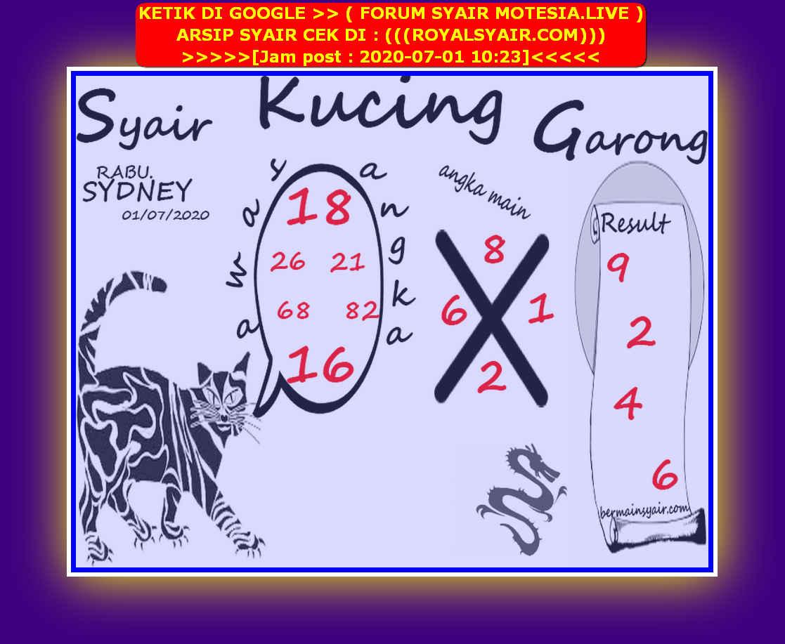 Kode syair Sydney Rabu 1 Juli 2020 90