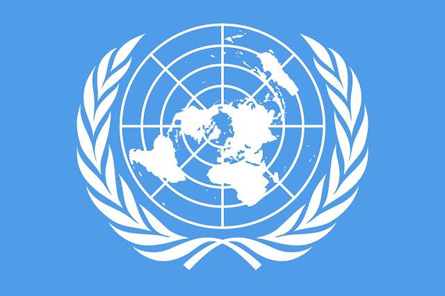 Gambar Peta Dunia dalam logo PBB