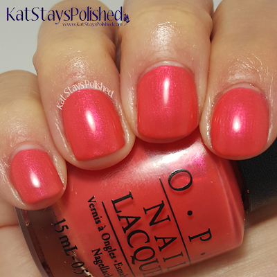 OPI Neons - Down to the Core-al | Kat Stays Polished