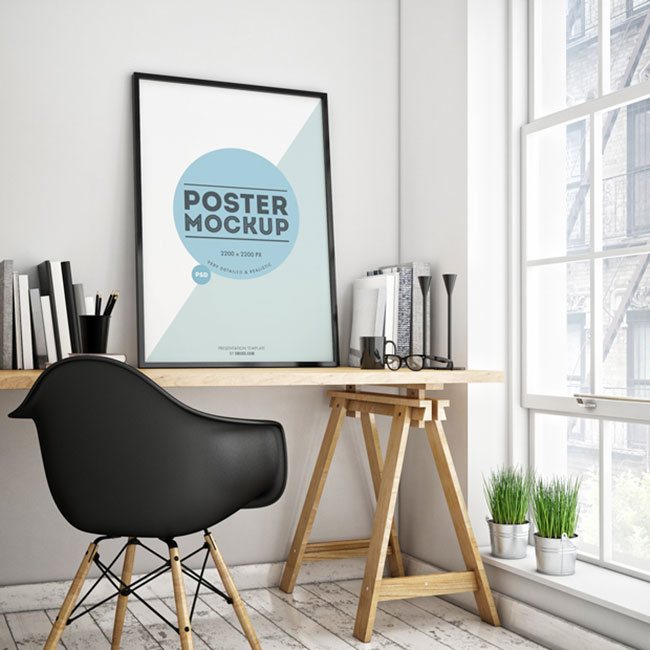 Poster in a Room Mockup