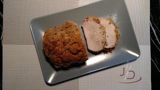 Lombo de porco com crosta de sálvia