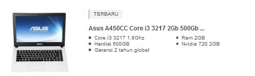 Harga Laptop Asus Core i3