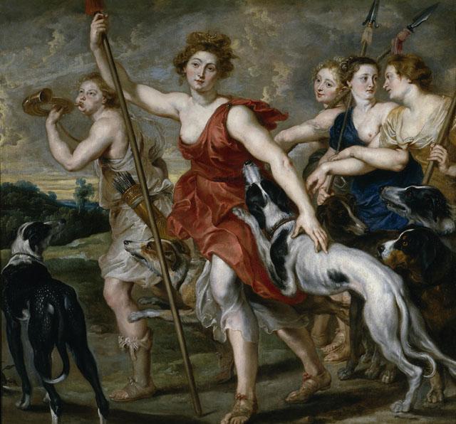 Pedro Pablo Rubens, Diana cazadora, 1617-1620, Museo del Prado.