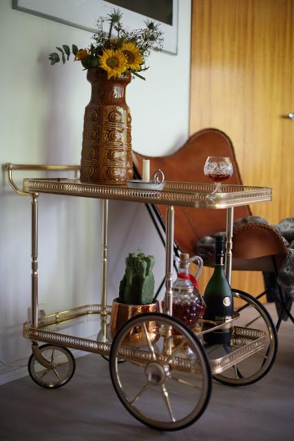 Bagues Brass Bar Cart, tarjoiluvaunu, kirppislöytö, flea market found
