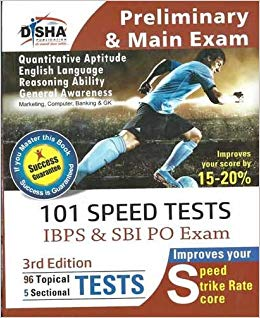 Free Download 101 Speed Tests for IBPS & SBI Bank PO Exam PDF by Disha Expert