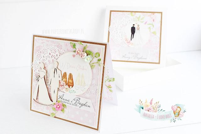 handmade rękodzieło kartka karteczka okolicznościowa gratulacyjna ślubna ślub para młoda dla pary młodej kieszonka na pieniązki cardmaking ilovedigi digi stempel z okazji ślubu pan młody pani młoda dla pary