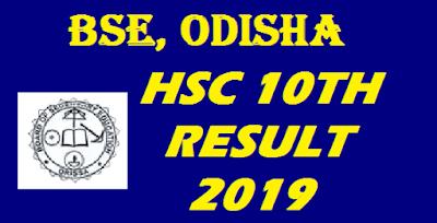 Odisha 10th Result 2019