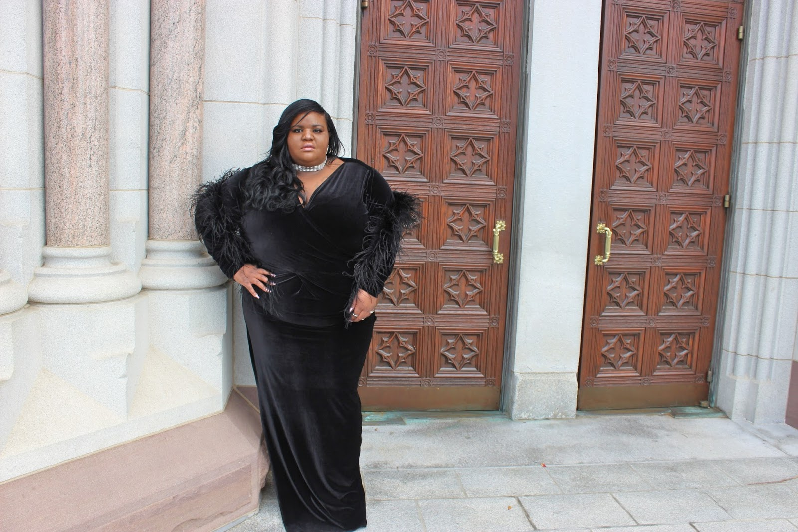 kurvaciousbella, velvet dress, plus size velevet dress,fashion,