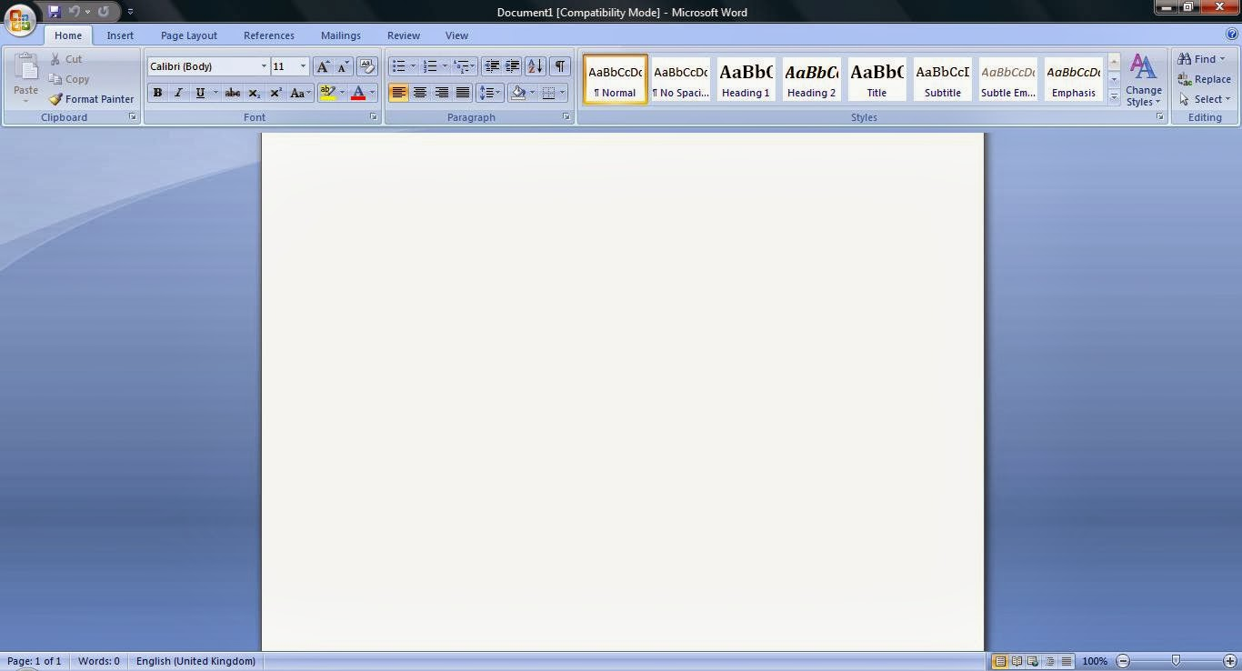 Microsoft Office 2007 Words Scroll Bar Missing [Solved] ~ Quick