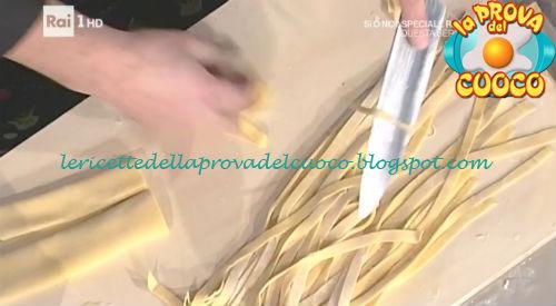 Tagliatelle ricetta Facchini da Prova del Cuoco
