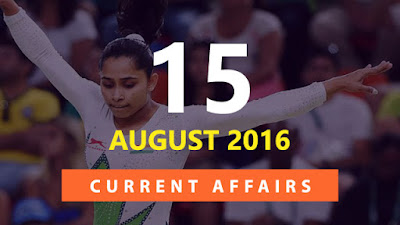 Current Affairs 15 August 2015