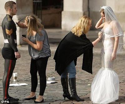body painting wedding